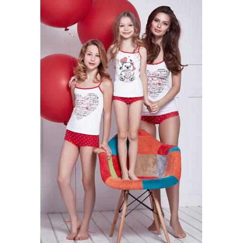 Комплект для девочки: майка + трусы ТМ Anabel Arto Мишка