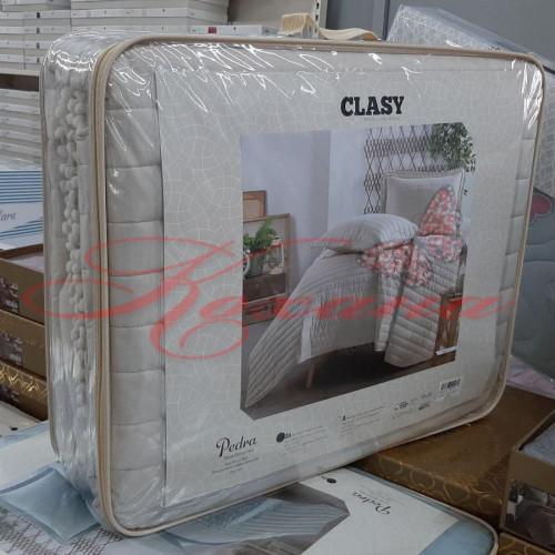 Покрывало стеганое с наволочками ТМ Aran Clasy Pedra V1 Bej