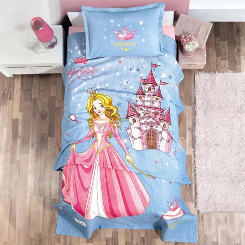 Подростковое постельное белье с вафельным покрывалом Aran Clasy Crown