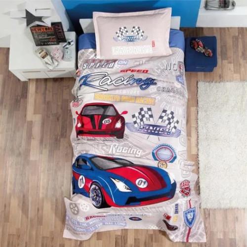 Подростковое постельное белье с вафельным покрывалом Aran Clasy Garage