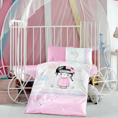 Детское постельное белье в кроватку ТМ Aran Clasy ранфорс Ariel