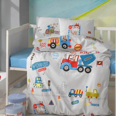 Детское постельное белье в кроватку ТМ Aran Clasy ранфорс Graffe