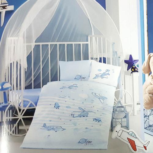 Детское постельное белье в кроватку ТМ Aran Clasy ранфорс Super Wings V1