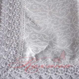 Скатерть прямоугольная Dan Li с кружевом белая