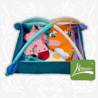 Коврик-манеж с дугами и подвесными игрушками Уточка