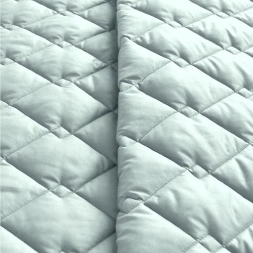 Покрывало стеганое Стиль Cube Мята-Светло-серый ТМ Идея