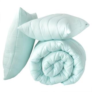 Набор Тропикал Одеяло и подушка ТМ Идея мятный