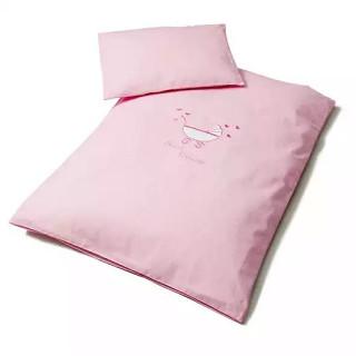 Комплект постельного белья в коляску розовый ТМ Идея