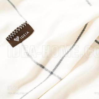 Плед-покрывало Алиса клетка крем ТМ Идея 150x200