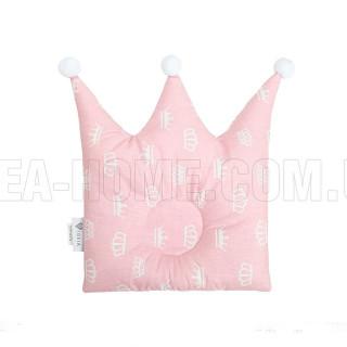Подушка для сна Корона розовая ТМ Идея