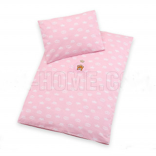 Постельное белье в коляску Корона розовое ТМ Идея