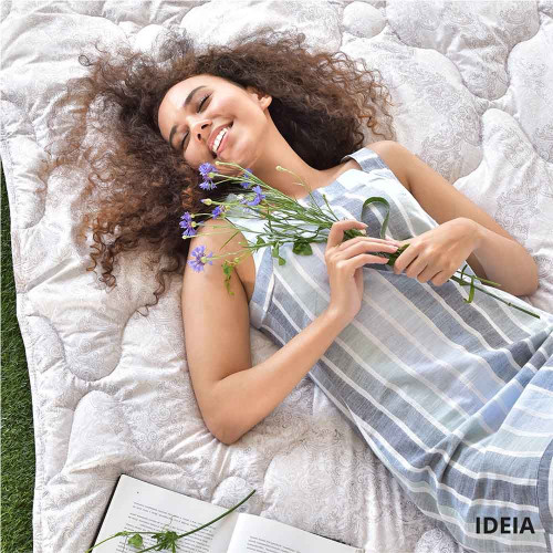 Одеяло всесезонное лебяжий пух ТМ Идея Afrodita