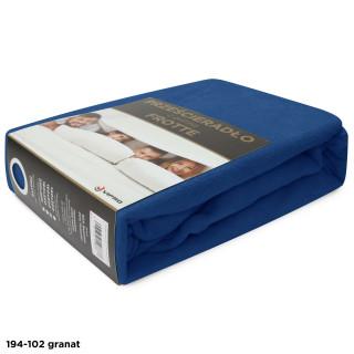 Простынь махровая на резинке FROTTE HOME 194-102 темно-синяя