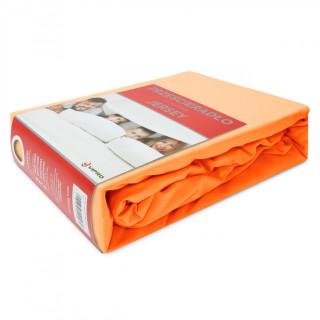 Простынь трикотажная на резинке JERSEY HOME 195-06 оранжевая