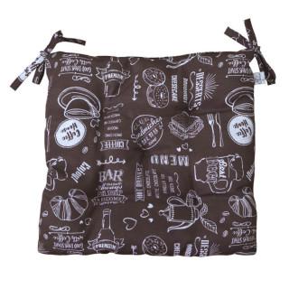 Подушка на стул ТМ Прованс Breakfast Brown