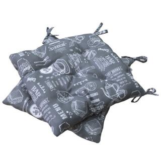 Подушка на стул ТМ Прованс Breakfast Grey