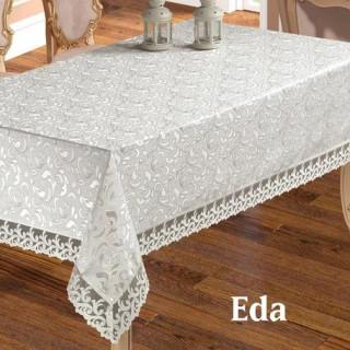 Скатерть прямоугольная жаккардовая Maison Royale Eda белая 160х220