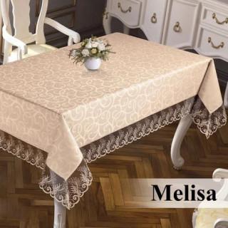 Скатерть прямоугольная жаккардовая Maison Royale Melisa капучино 160х220