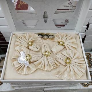 Скатерть прямоугольная Maison Royale с салфетками Капучино 160х220
