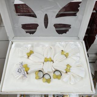 Скатерть прямоугольная Maison Royale с салфетками Cream 160х220