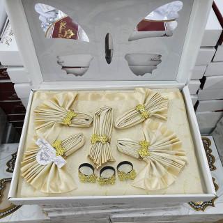 Скатерть прямоугольная Maison Royale с салфетками Gold 160х220