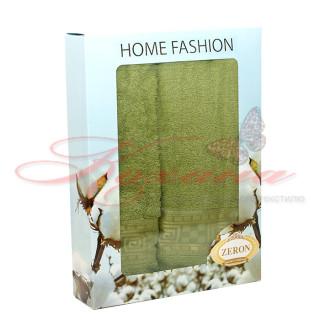 Набор полотенец ТМ Zeron Греция зеленый 2 шт.