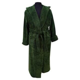 Халат мужской микрофибра ТМ Zeron Турция зеленый
