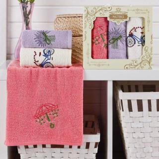 Набор полотенец кухонных Nilteks Laure Series Lavender 30х50 3 шт