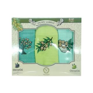 Набор салфеток кухонных Nilteks Olive Labels 40х60 3 шт