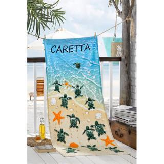Полотенце пляжное велюровое Турция Caretta