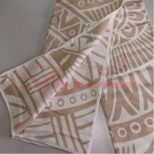 Одеяло хлопковое жаккардовое ТМ Vladi Перу бел-беж