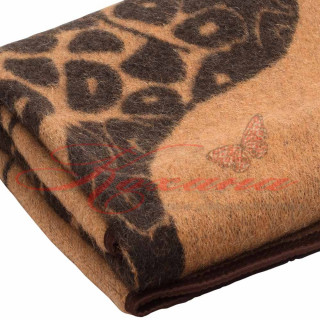 Одеяло жаккардовое шерстяное детское ТМ Vladi Жираф беж