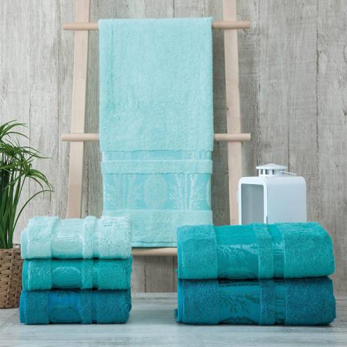 Набор полотенец Zeron VIP Bamboo Home Fashion гол-бир 3 шт