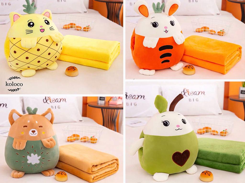 Детский плед-игрушка Koloco - симпатичный и мягкий текстиль для детей и взрослых