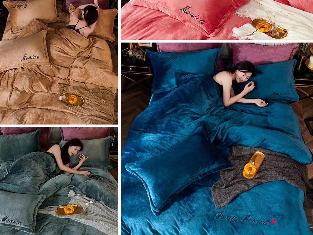 Постельное белье велюр ТМ Koloco - роскошные постельные принадлежности