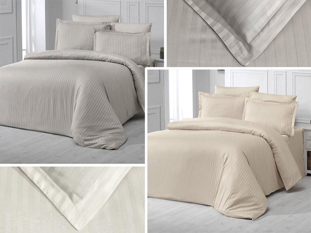 Постельное белье сатин страйп Zeron - красивый дизайн, отличное качество